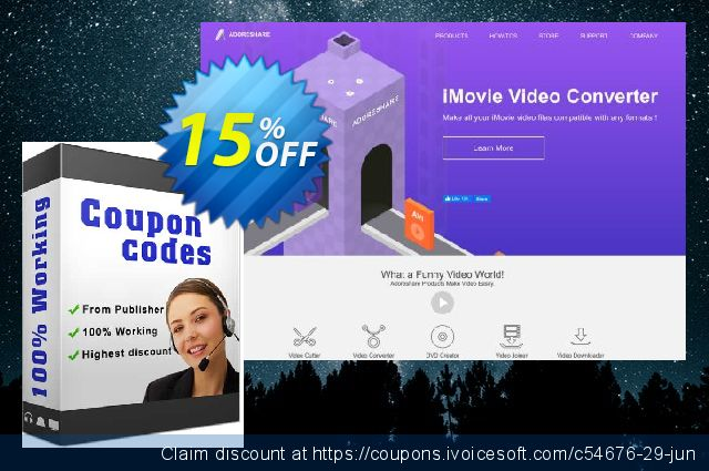 Discount Bundle for  AppyFridays User($15.99 Video Converter+DVD Creator for Mac) discount 15% OFF, 2020 Father's Day offer