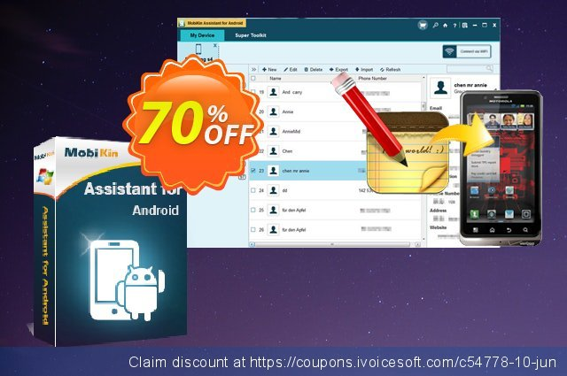 MobiKin Assistant for Android (1 Year) discount 50% OFF, 2020 Student deals offer