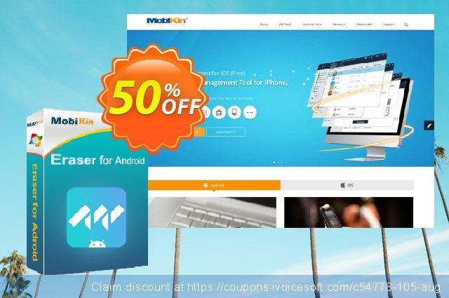 MobiKin Eraser for Android - 1 Year, 1 PC License discount 50% OFF, 2019 Father's Day promo sales