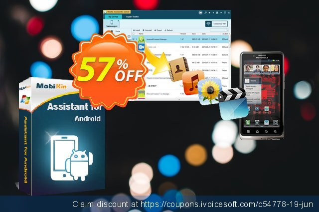 MobiKin Assistant for Android - 1 Year, 11-15PCs License discount 50% OFF, 2020 Back to School Promos offering sales