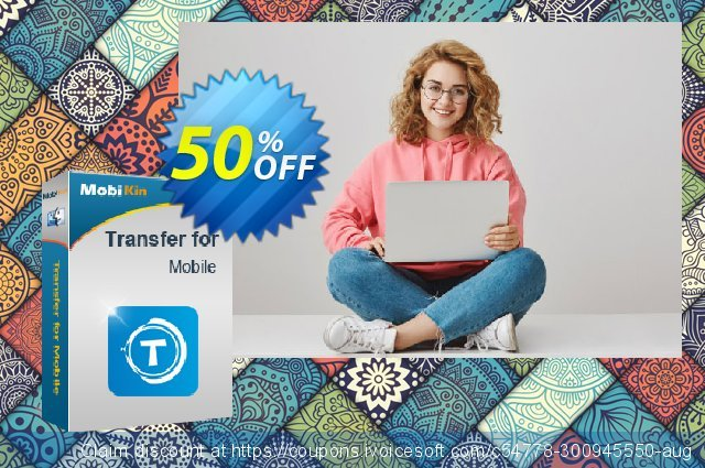 MobiKin Transfer for Mobile (Mac Version) - 1 Year, 16-20PCs License discount 50% OFF, 2021 Spring promo sales