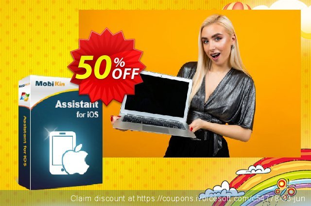 MobiKin Assistant for iOS - Lifetime, 11-15PCs License discount 50% OFF, 2020 Halloween promo
