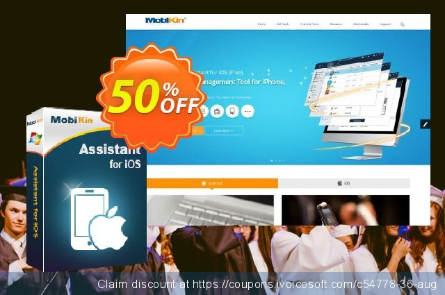 MobiKin Assistant for iOS - Lifetime, 26-30PCs License discount 50% OFF, 2020 College Student deals offering sales