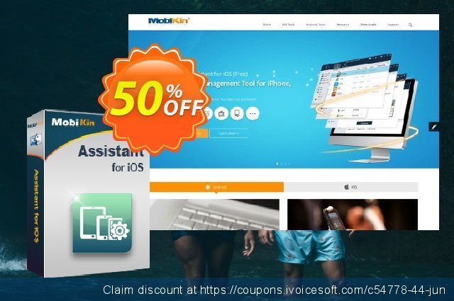 MobiKin Assistant for iOS (Mac Version) - Lifetime, 2-5PCs License discount 50% OFF, 2019 Women Day offering sales