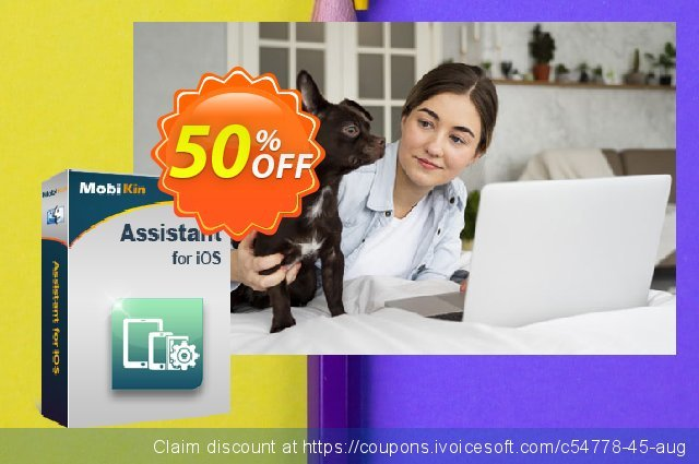 MobiKin Assistant for iOS (Mac Version) - Lifetime, 6-10PCs License discount 50% OFF, 2020 Back to School deals sales