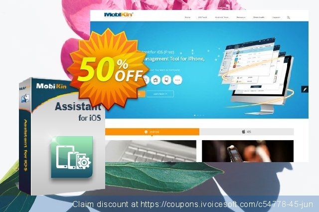 MobiKin Assistant for iOS (Mac Version) - Lifetime, 6-10PCs License discount 50% OFF, 2019 New Year offering sales