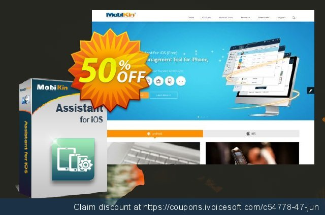 MobiKin Assistant for iOS (Mac) - Lifetime, 16-20 PCs discount 50% OFF, 2020 Halloween discount