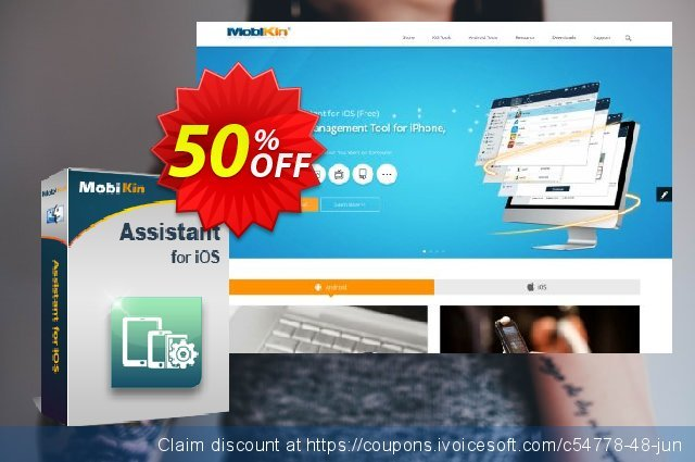 MobiKin Assistant for iOS (Mac Version) - Lifetime, 21-25PCs License discount 50% OFF, 2019 January offering sales
