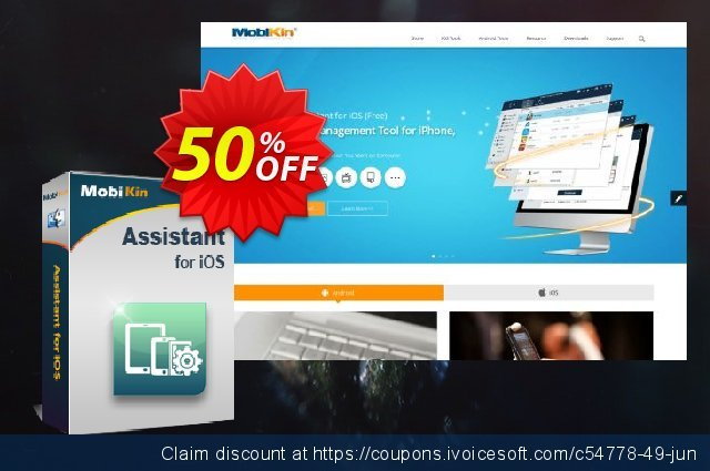 MobiKin Assistant for iOS (Mac Version) - Lifetime, 26-30PCs License discount 50% OFF, 2019 Happy New Year offering sales