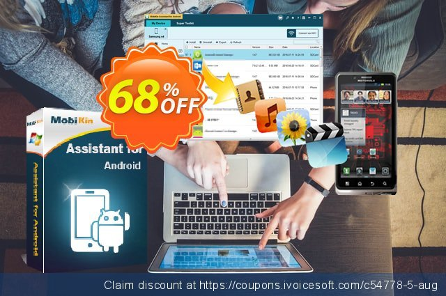 MobiKin Assistant for Android discount 50% OFF, 2018 Christmas offering sales