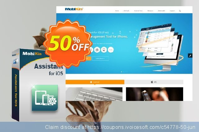 MobiKin Assistant for iOS (Mac) - 1 Year, 1 PC License discount 50% OFF, 2019 Earth Hour promotions