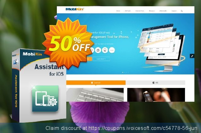MobiKin Assistant for iOS (Mac) - 1 Year, 26-30PCs License discount 50% OFF, 2020 Teacher deals offering sales