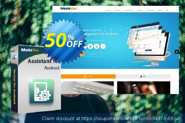MobiKin Assistant for Android (Mac) - 1 Year, 11-15PCs License discount 50% OFF, 2020 Back to School deals offer