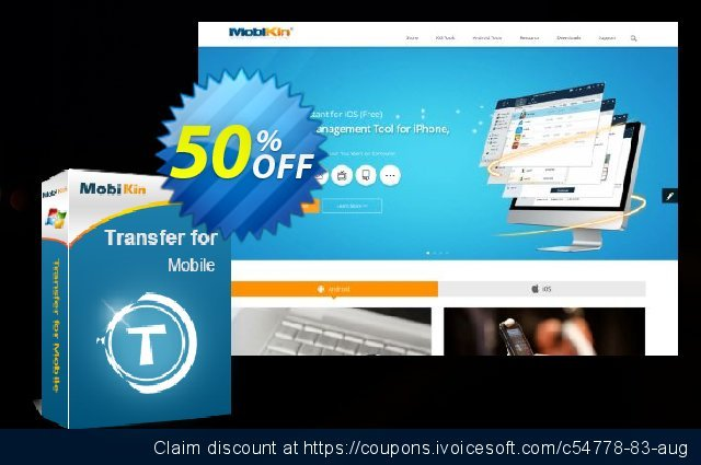 MobiKin Transfer for Mobile - 1 Year, 26-30PCs License discount 50% OFF, 2019 Father's Day offering sales