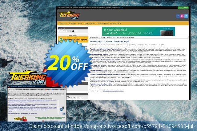 Tweaking.com Windows Repair Pro v4 discount 20% OFF, 2020 Halloween offering sales