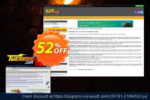 Tweaking.com Windows Repair Pro v4 (3 PC License) discount 52% OFF, 2020 Halloween offer