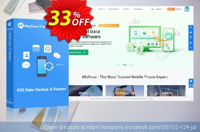 iMyFone iTransor (Family) discount 33% OFF, 2020 Halloween offering sales