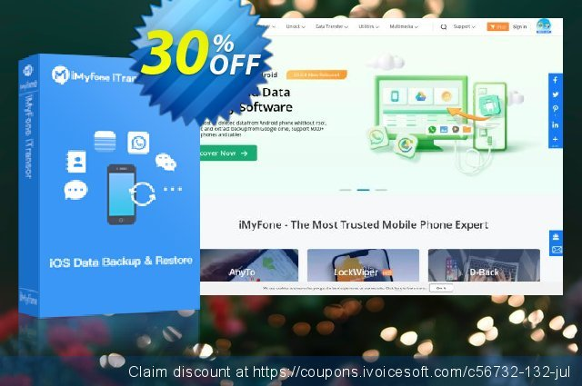 iMyFone iTransor for Mac (Family) discount 30% OFF, 2020 April Fools' Day offering sales