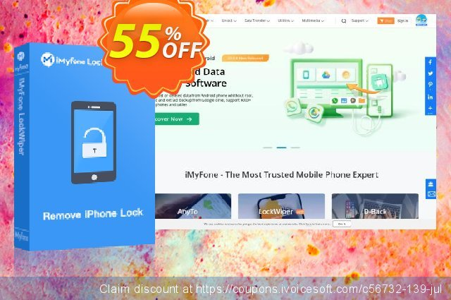 iMyFone LockWiper discount 43% OFF, 2019 Thanksgiving Day offering sales