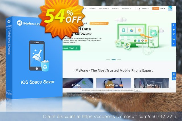 iMyfone Umate for Mac - Family License discount 54% OFF, 2019 New Year's Day discount