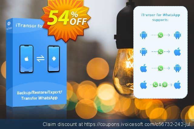 You can purchase all iMyfone software with 54% off! The deal allows you to grab iMyfone product for the amazing price.