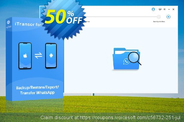 iTransor for WhatsApp Mac Version (10 Devices/Lifetime) discount 50% OFF, 2020 Halloween promo sales