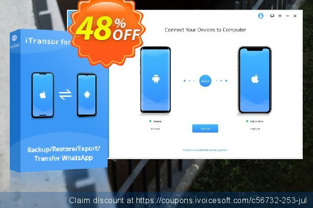 iTransor for WhatsApp (Unlimited/Lifetime) discount 48% OFF, 2020 Halloween offering sales