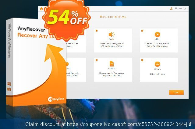iMyFone AnyRecover discount 54% OFF, 2021 Working Day offering sales. iMyFone AnyRecover (Windows version) discount (56732)