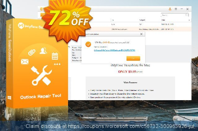 iMyFone ScanOutlook (Business) discount 72% OFF, 2020 College Student deals offer