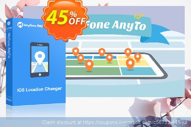 iMyFone AnyTo discount 45% OFF, 2021 Easter day offering sales