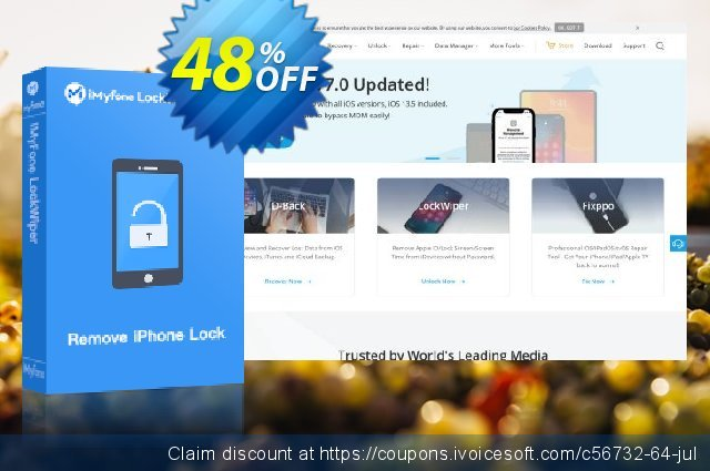 iMyfone iPhone Kik Recovery for Mac 大的 产品销售 软件截图