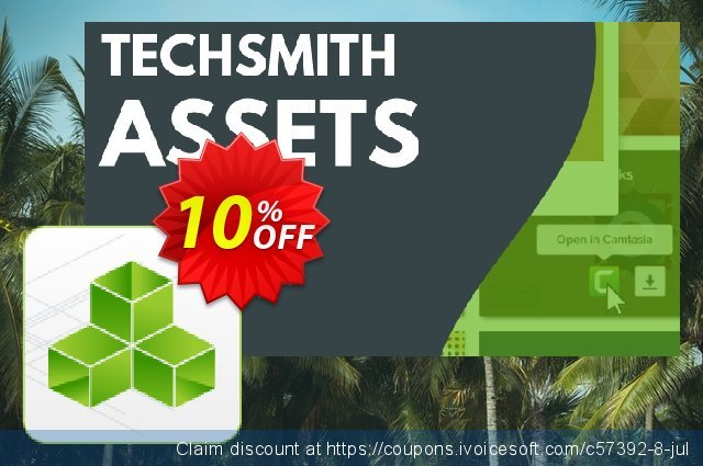 TechSmith Assets for Camtasia discount 10% OFF, 2020 Back to School offer deals