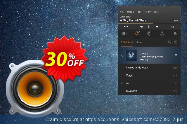 VOX MUSIC PLAYER for MAC discount 30% OFF, 2021 New Year's Day discounts