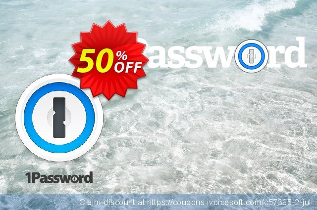 1Password Families discount 50% OFF, 2021 Columbus Day promo. 50% OFF 1Password Families, verified