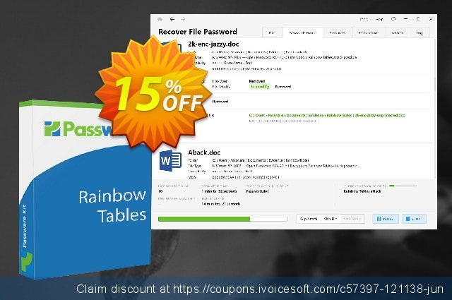 Passware Rainbow Tables for Office discount 15% OFF, 2021 Mother Day offering sales. 15% OFF Passware Rainbow Tables for Office, verified