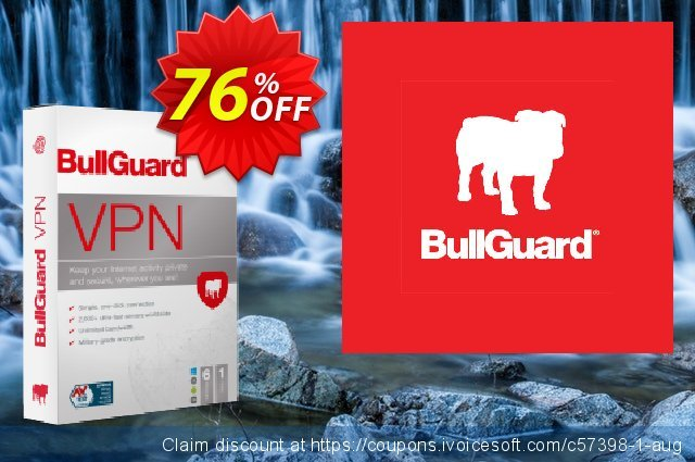 BullGuard VPN discount 76% OFF, 2021 Mother's Day offering sales. 76% OFF BullGuard VPN, verified