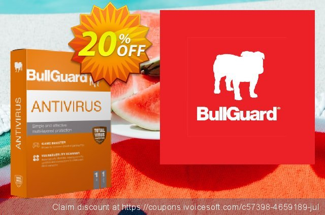 BullGuard Antivirus 2021 discount 20% OFF, 2021 Mother's Day offering sales. BullGuard 2021 Antivirus 1-Year 3-PCs at USD$29.95 awful discounts code 2021