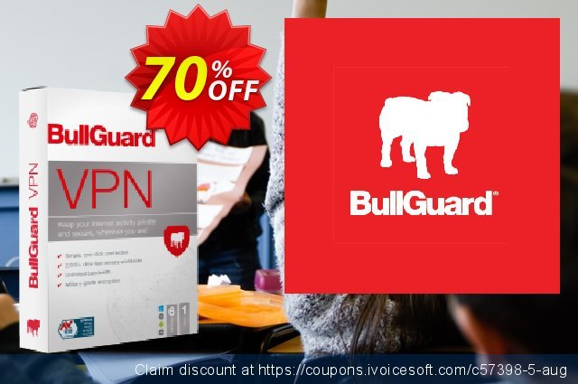 BullGuard VPN 3-year plan discount 70% OFF, 2021 Mother's Day discounts. 70% OFF BullGuard VPN 3-year plan, verified