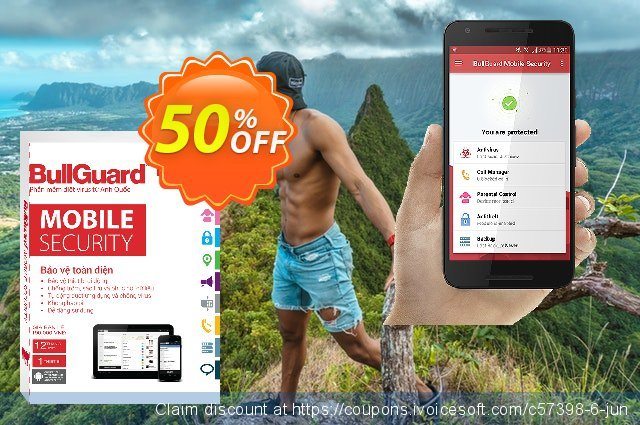 BullGuard Mobile Security discount 50% OFF, 2021 Mother Day promotions. 50% OFF BullGuard Mobile Security, verified
