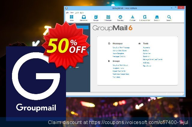 GroupMail Personal License discount 20% OFF, 2021 Plastic Bag Free Day offering sales. 20% OFF GroupMail Personal License, verified