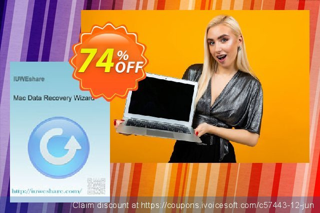 IUWEshare Mac Data Recovery Wizard  놀라운   제공  스크린 샷