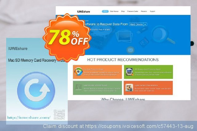 IUWEshare Mac SD Memory Card Recovery Wizard 令人惊讶的 折扣 软件截图