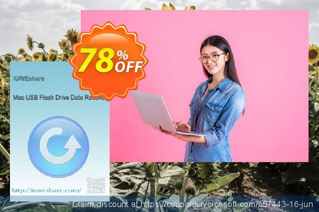 IUWEshare Mac USB Flash Drive Data Recovery discount 78% OFF, 2019 Thanksgiving Day discounts