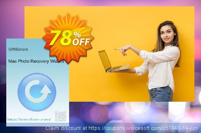 IUWEshare Mac Photo Recovery Wizard discount 78% OFF, 2020 Back to School season discounts