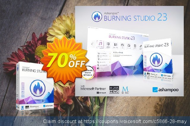 Get 65% OFF Ashampoo Burning Studio offer