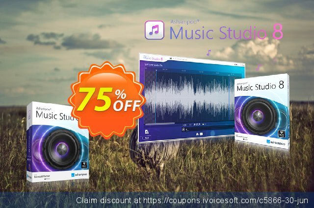 Ashampoo Music Studio discount 75% OFF, 2019 Back-to-School promotions offering sales