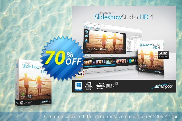 Ashampoo Slideshow Studio HD discount 70% OFF, 2019 Back to School Promos offering sales