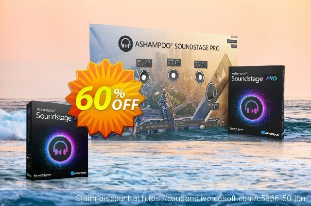 Ashampoo Soundstage Pro discount 60% OFF, 2021 Mother Day offering sales. 60% OFF Ashampoo Soundstage Pro, verified