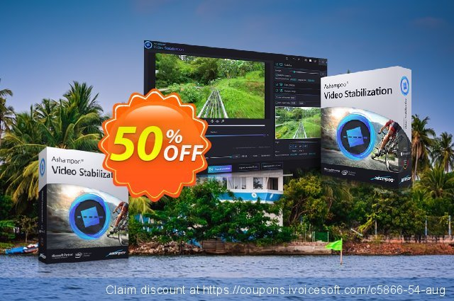 Ashampoo Video Stabilization discount 50% OFF, 2021 Mother Day offering sales. 50% OFF Ashampoo Video Stabilization, verified