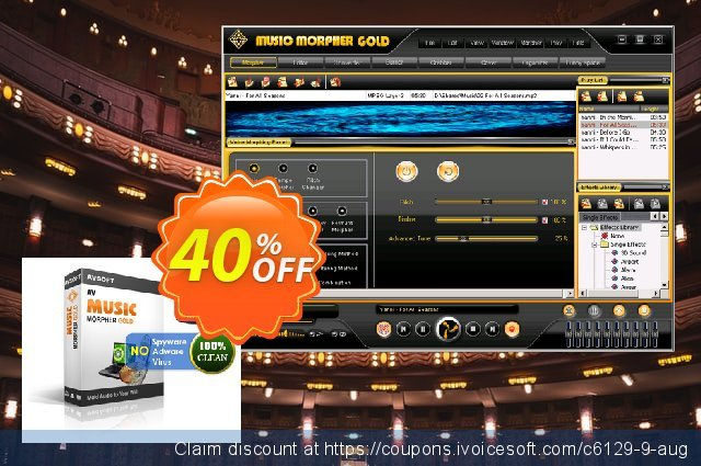 AV Music Morpher Gold discount 60% OFF, 2020 Back to School season offering sales